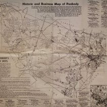 Image of Historic & Business Map of Peabody