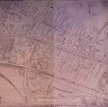 Image of Ca. 1890s map of downtown Peabody