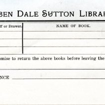 Image of Sutton Room pull slip - no date