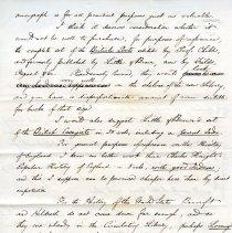 Image of Ezra Abbott's letter to Thomas M. Stimpson page 2