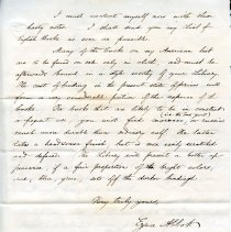 Image of Ezra Abbott's letter to Thomas M. Stimpson page 3