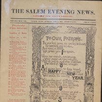 Image of The Salem Evening News 1893