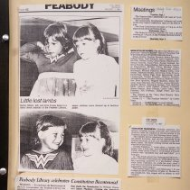 Image of Scrapbook about Peabody and the Library