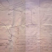 Image of Topographic map of the West Branch Library land.