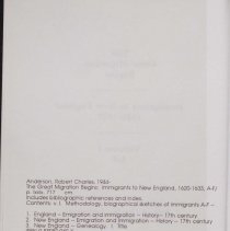 "Image of Copyright page for ""The Great Migration Begins"""