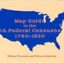 "Image of G1201 .F7 T5 1987 - The book ""Map guide to the U.S. federal censuses, 1790-1920"" by William Thorndale and William Dollarhide shows U.S. county boundary maps for the census decades superimposed on modern county boundaries. Gives background information on each census, including census availability for each county. Book includes index and bliography: p. 399-410."