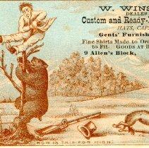 Image of W. Winslow trade card - circa 1880s