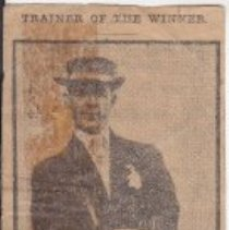 Image of Newspaper article about George Ham, trainer of Donau