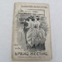Image of 1885 Louisville Jockey Club Condition Book