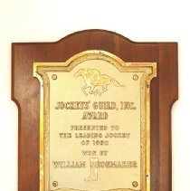 Image of Bill Shoemaker Collection - Plaque