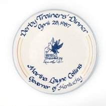 Image of Derby Trainers' Dinner Platter awarded to Woody Stephens