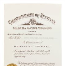 Image of Woody Stephens Collection - Certificate, Commemorative