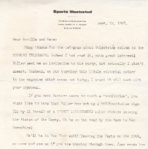 Image of Calumet Farm Collection - Letter