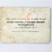 Image of Back of Match Race Ticket