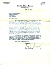 Image of Ltr from JFK to Catherine Bliss Enslow,m 1959