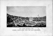 Image of Fort Sumter, September 1863, interior, looking north, after first great bom