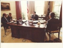 Image of Marvin Stone with Pres. Reagan at White House