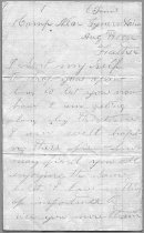 Image of Civil War letter from John B. Stephens, relating that his unit may be going to Chattanooga, and that he wanted his pistol repaired and exchanged. - 2001.0703