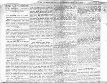 "Image of  Wallpaper newspaper printing, Vicksburg, Miss., ""Daily Citizen,"" 2 July 1863. - 2001.0703"