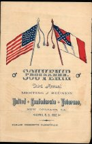 Image of Program of the United Confederate Veterans 3rd annual reunion in New Orleans, La., April 8 & 9, 1892.  - 2001.0703