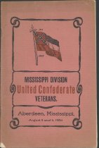 Image of Program of the Mississippi Division, United Confederate Veterans, 1904.