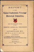 Image of Report of United Confederate Veterans' Historical Committee, 1900. 