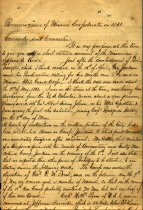 Image of Holographic manuscript written by John M. Warren, Private, Company B, 10th Missouri Infantry, CSA, recounting the organization and exploits of Missouri Confederate troops in 1861.   - 2001.0703