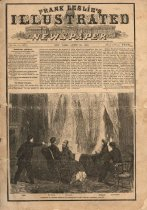 Image of  Frank Leslie's Illustrated Newspaper for Apr. 29, 1865, covering Lincoln assassination. - 2008/08.0766