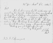 Image of Letter from Robert E. Lee asking Beauregard to give Gen. [Micah] Jenkins assistance