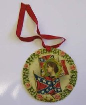 Image of United Confederate Veterans reunion pin, Louisville, Ky 1905.