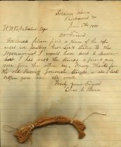 Image of Small rope fragment, used to pull Robert E. Lee Statue to the monument in Richmond, Va.
