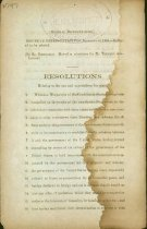 Image of  Confederate Government imprint: Resolution relating to the war and negotiations for peace, Confederate House of Representatives, Dec. 16 , 1864. 