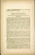 Image of  Confederate Government imprint: Resolutions of the State of Texas concerning peace, Confederate House of Representatives, 19 Jan 1865.   - 2001.0703