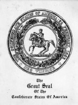 Image of Great Seal of the Confederate States of America, b&w - 2006.0703