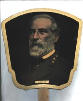 Image of Hand fan with photo of Robert E. Lee. - 2006.0703