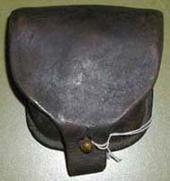 Image of Leather percussion cap pouch.