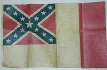 Image of Small Confederate flag, CSA final edition of March,1865,  printed on linen. - 2001.0703