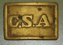 Image of Rectangular, Confederate belt buckle.