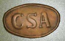 Image of Oval brass Confederate belt buckle.  - 2001.0703