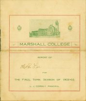 Image of H.B. Lee grade report from Marshall, 1903