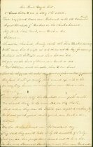 """Image of Handwritten poem entitled: """"Air Root Hog or Die"""", author unknown, written during the Civil War.  Patterned after a pre-Civil War poem of the 1850's.  Typed transcription included in the folder.  - 2001.0703"""