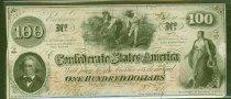 Image of CSA $100 bill, 1862