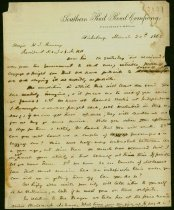 Image of 9 letters: One from the Pres. of Southern RR Co to CSA govt, One from a man asking to be paroled back to his home, 7 others, all 1861-1865