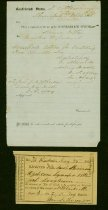 Image of 12 items: Confederate States receipt for cotton bale, 6 receipts for fodder and hay, one exepmtion from militia duty City of Richmond, affidavit for cultivation, etc.   - 2001.0703