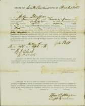 Image of Confederate Army enlistment form for John Shaffer