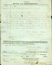 Image of 3 Confederate Army requisitions, one signed by Turner Ashby, two by R. Preston Chew, 1861-1862   - 2001.0703