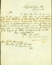 Image of 14 Confederate items: letters, receipts, 2 accounts of Civil war events, 2 invoices.   - 2001.0703