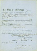 Image of 4 Confederate items: 1 summons to appear in Hinds County Court, Miss., 1861, 3 personal letters  - 2001.0703