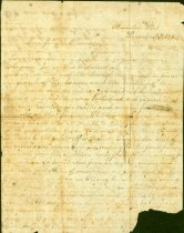 Image of Handwritten letter from Madora Mums(?) to her friend Emma ---, dated Charleston (S.C.?) Dec. 15, 1864,discusses Yankeys coming.  - 2001.0703