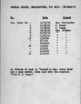 Image of List of General Orders, Trimble's Brig